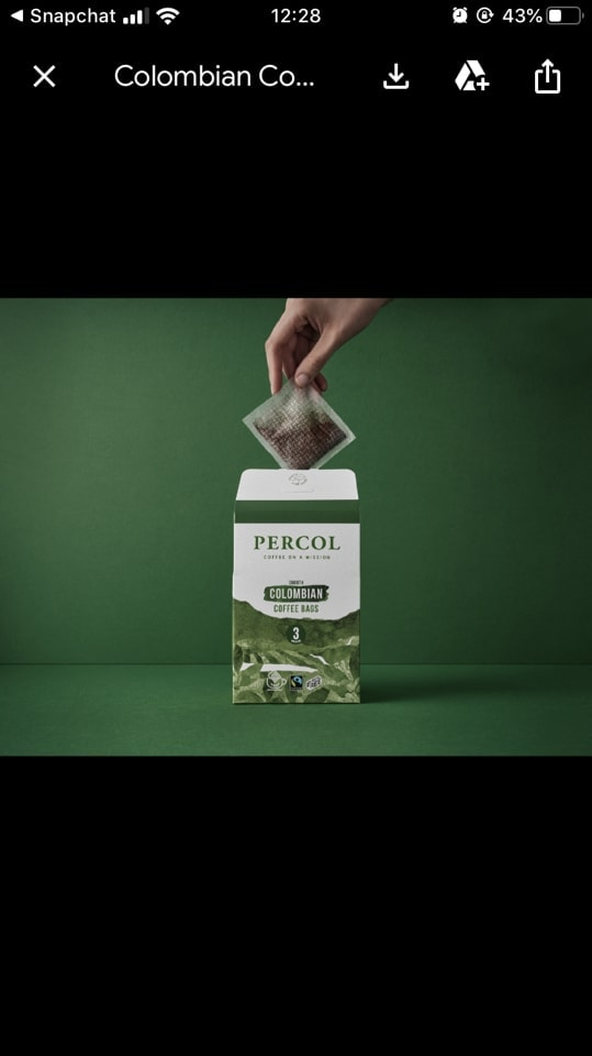 Sustainable Percol coffee to give away