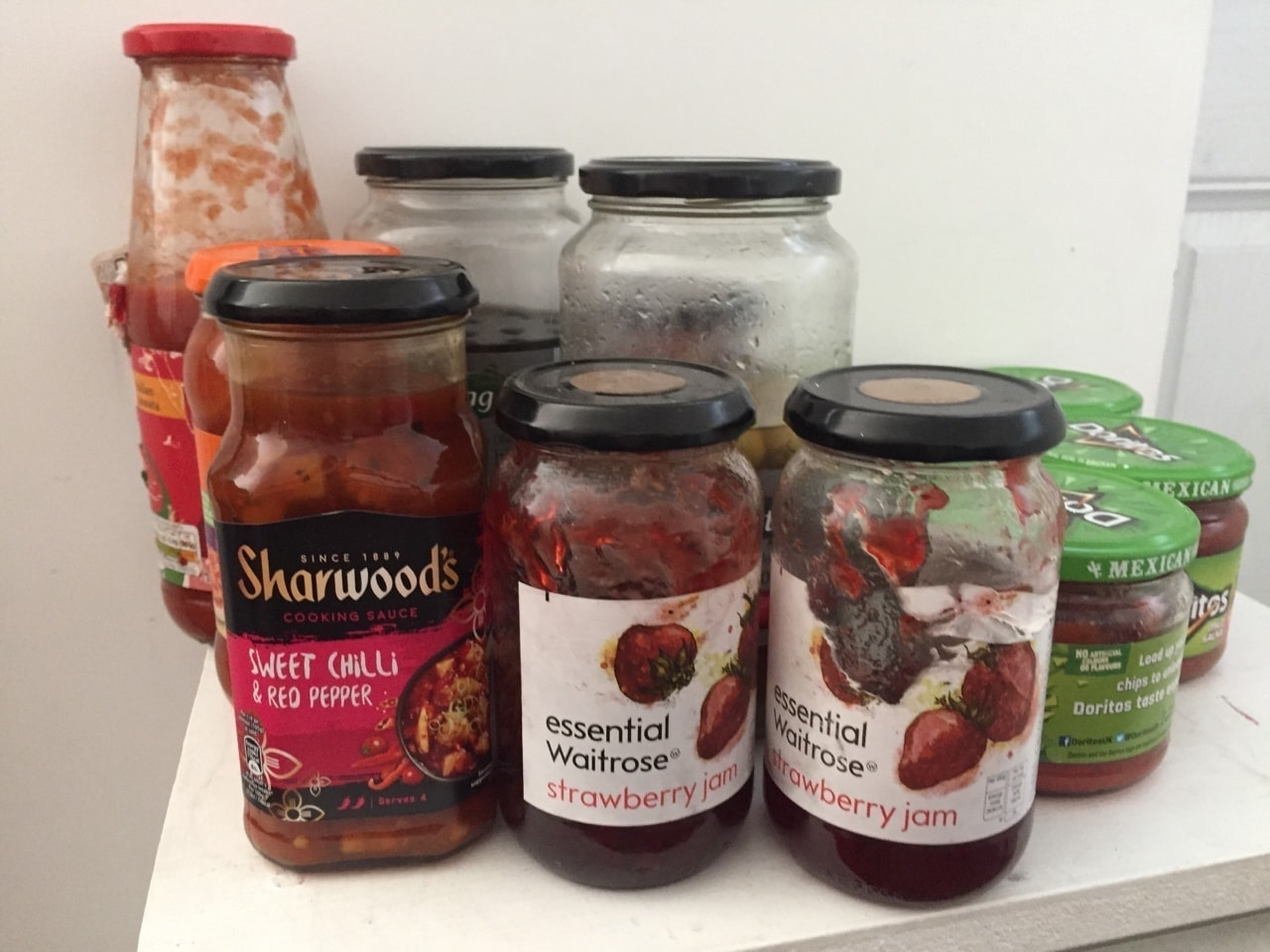 Various jars from the challenge