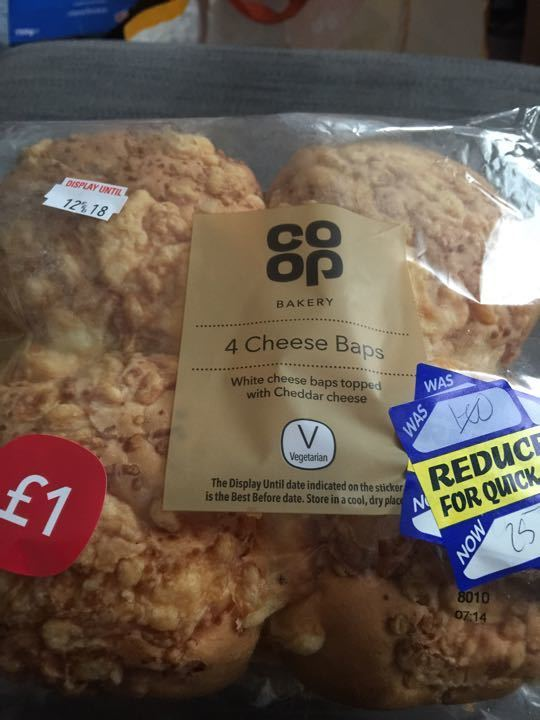 Coop cheese baps
