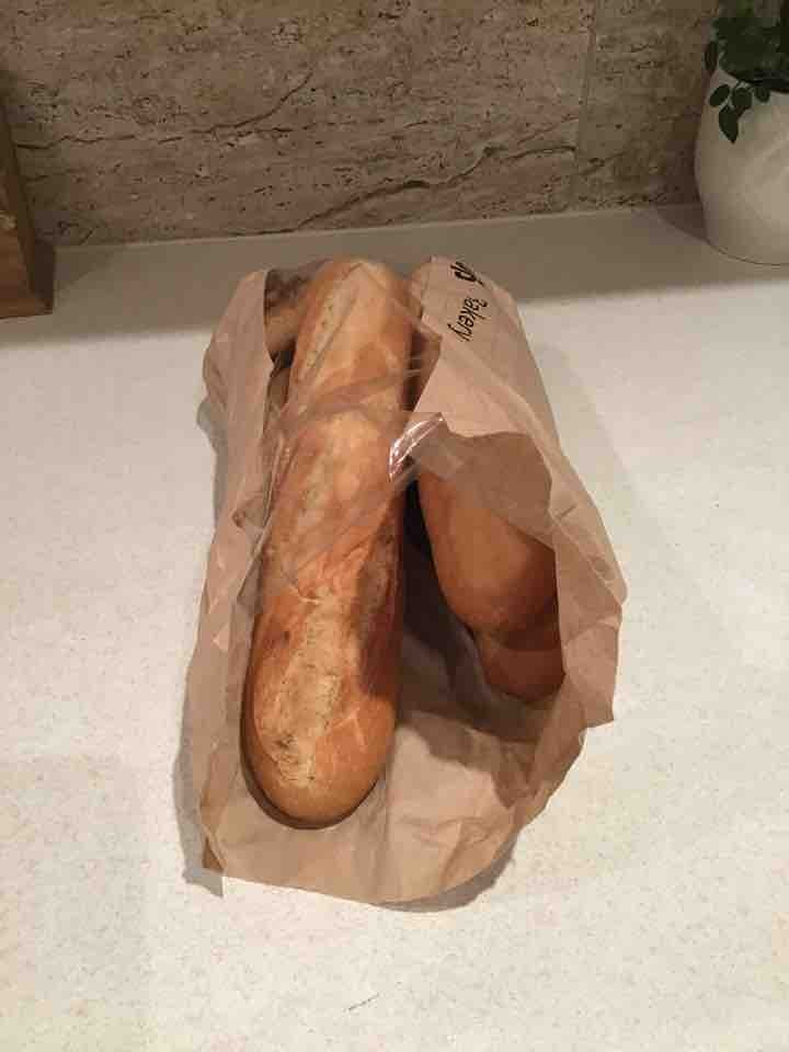 3 small baguettes and two rolls