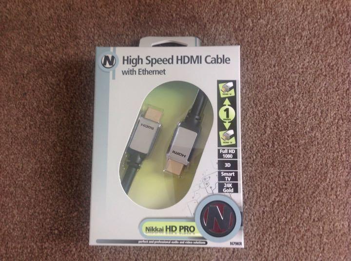 New HDMI lead