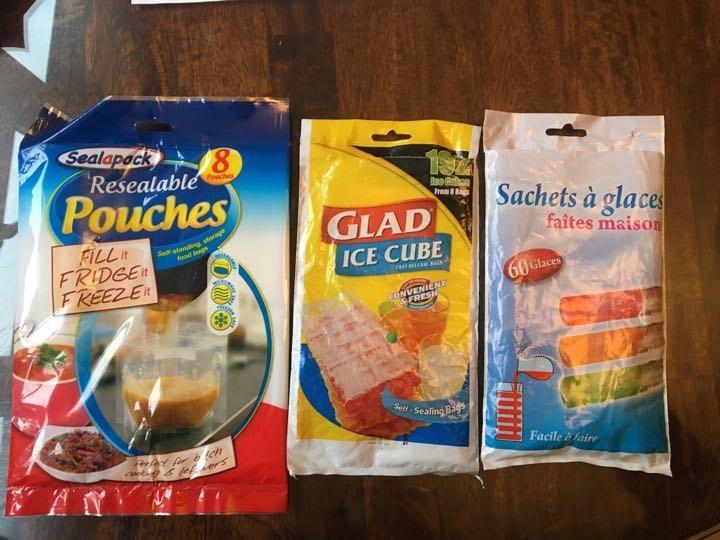 Various plastic items