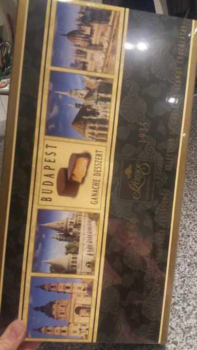 Sealed box of Hungarian chocolates