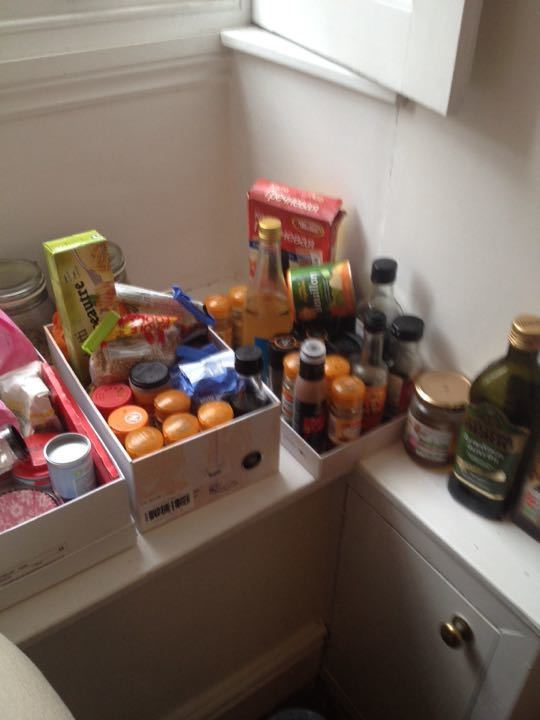 Load of baking stuff, spices, dressings, pulses and pasta