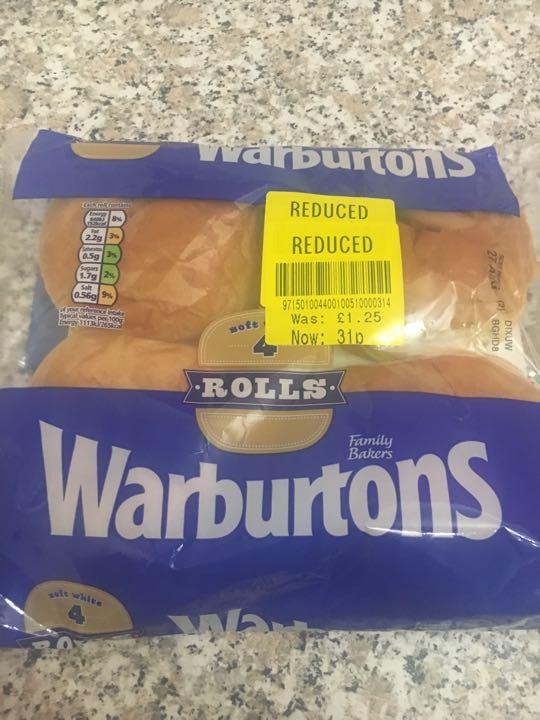 Warburtons rolls