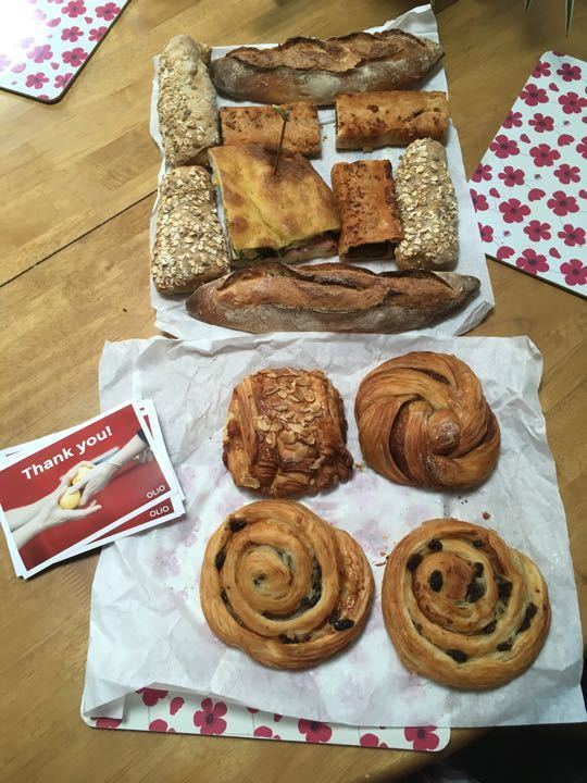 Free range bread and pastries