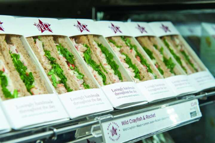 Pret foods available tonight - Friday, between 10 and 10.30pm