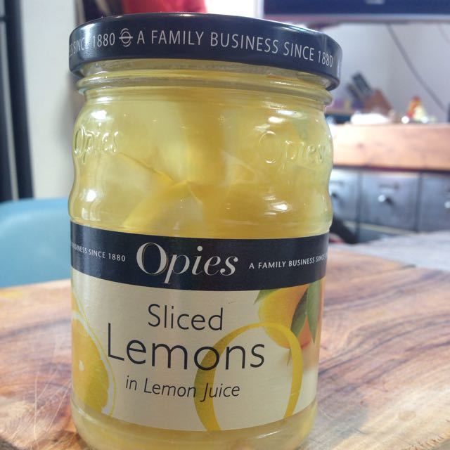Jar of sliced lemons