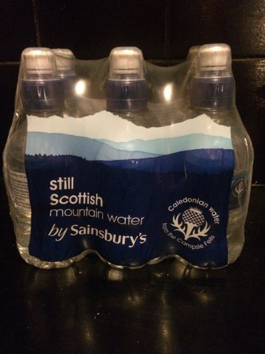 Pack of 6 x 300ml bottles Scottish mountain water