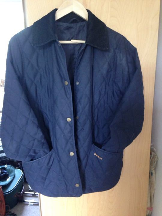 BARBOUR size 8 woman's quilted jacket
