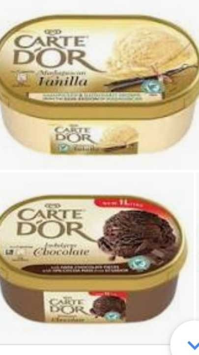 WANTED - Empty Carte D'or ice cream boxes 1L