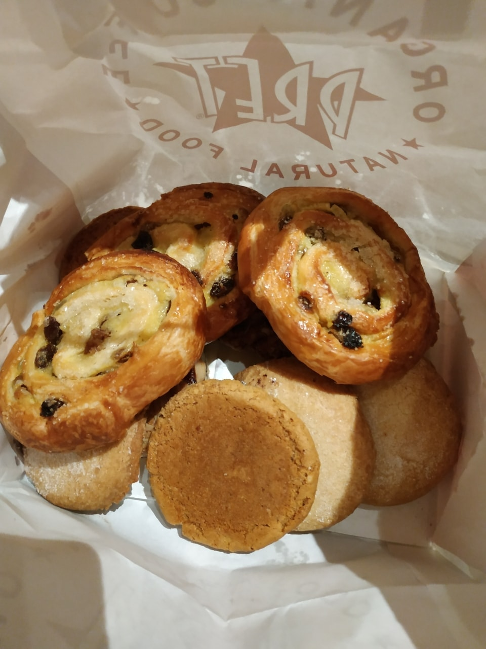 Bakery items from Pret