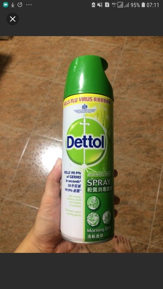 Dettol Disinfectant Spray 450ml (expires Oct 2019)