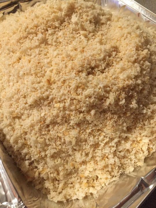 Fresh homemade breadcrumbs