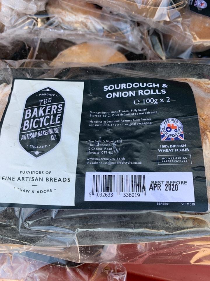 Sourdough and onion rolls