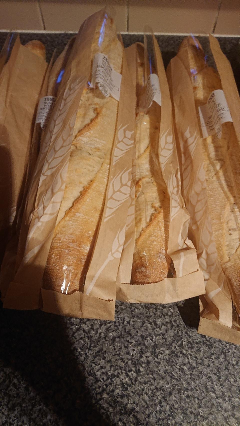 Rustic white baguette