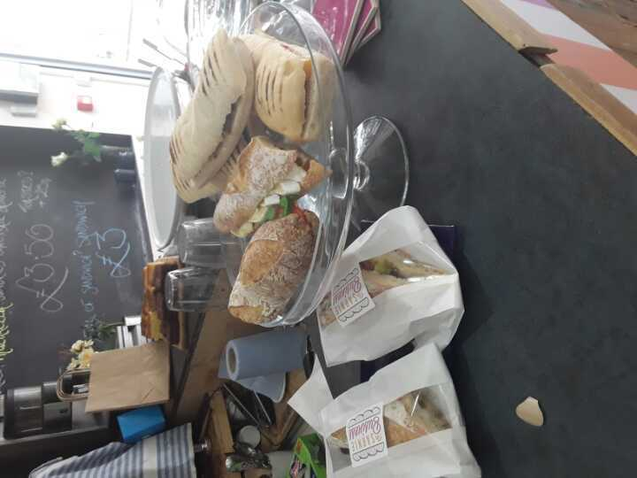 Various handmade sandwiches left over from sandwich shop today