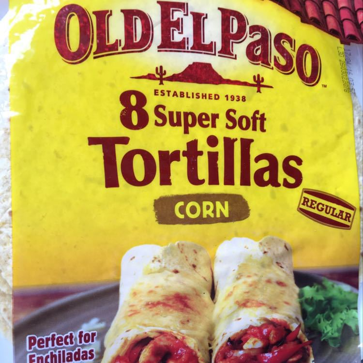 Old El Paso corn tortillas unopened