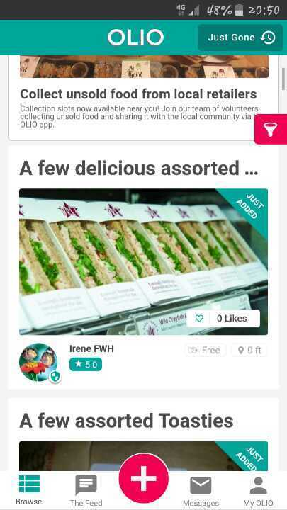 Assorted delicious Pret sandwiches
