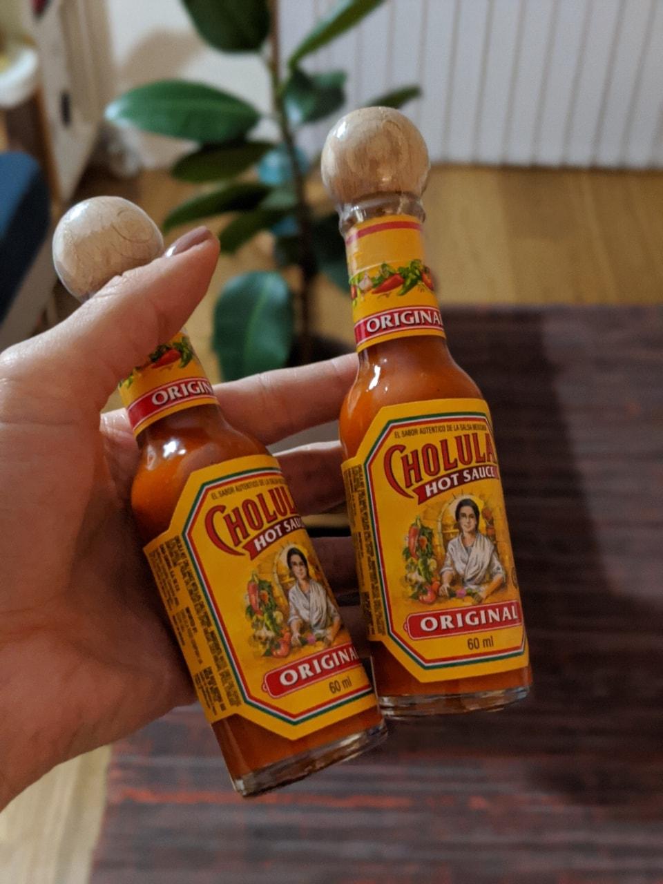 1 x unopened bottle of Cholula hot sauce