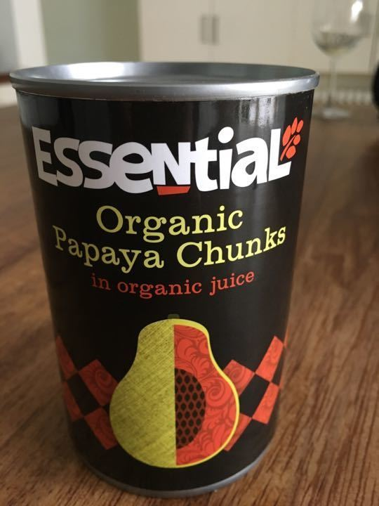 Organic papaya chunks
