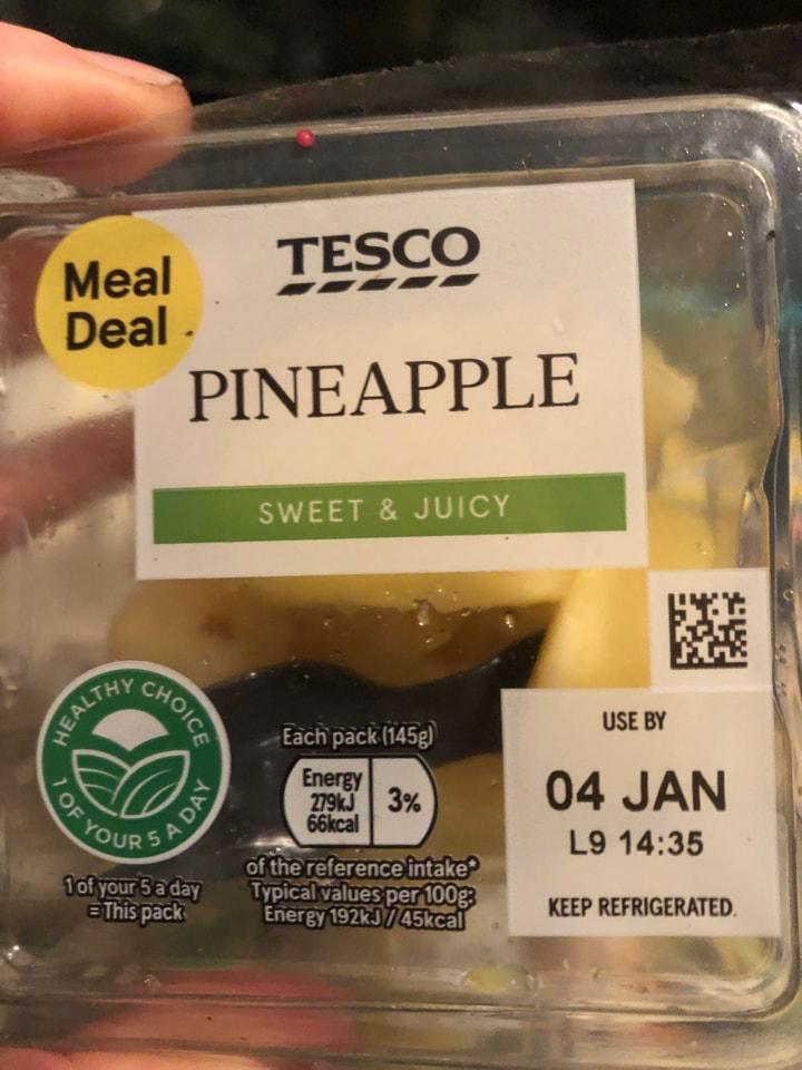 Tesco-pineapple 145g