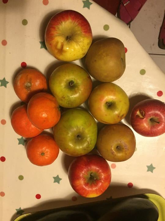 Organic Apples and mandarins from WholeFoods