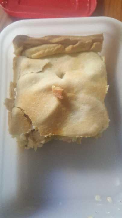 Portion of homemade pie