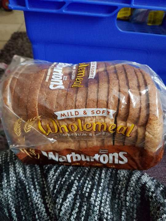 Warburtons mild and soft wholemeal sliced
