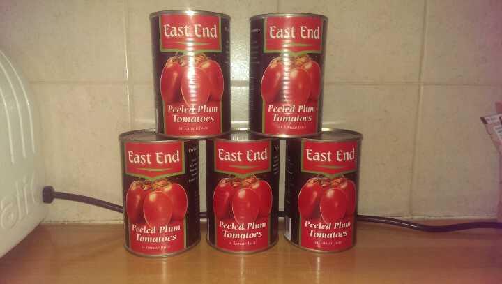Tinned peeled plum tomatoes