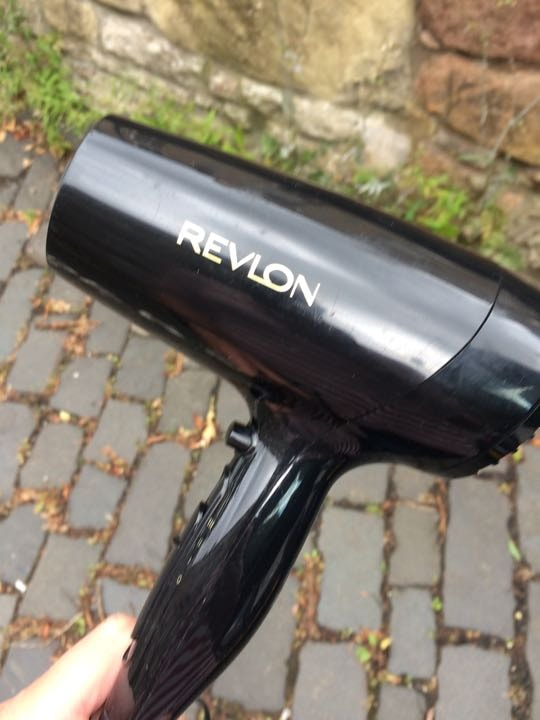 Hair dryer, working with hot medium cool and cold heat settings