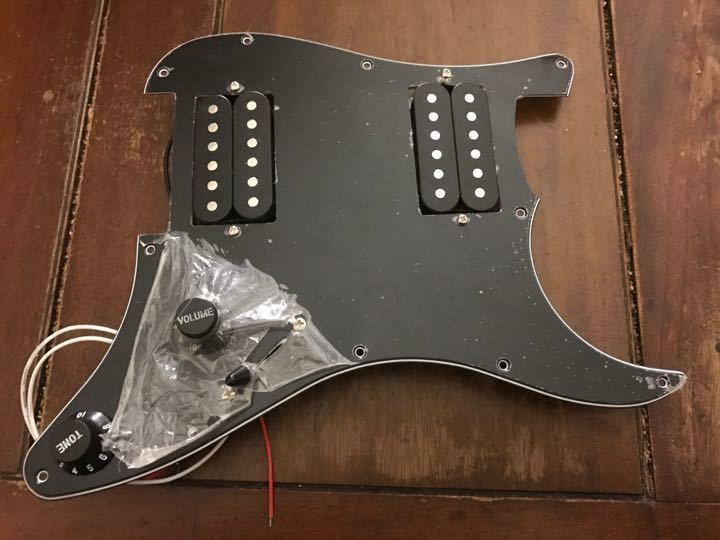 New loaded scratchplate with humbuckers