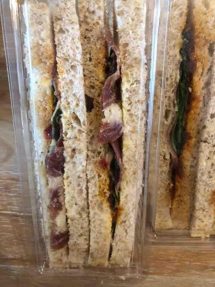 Pancetta (?) sandwich