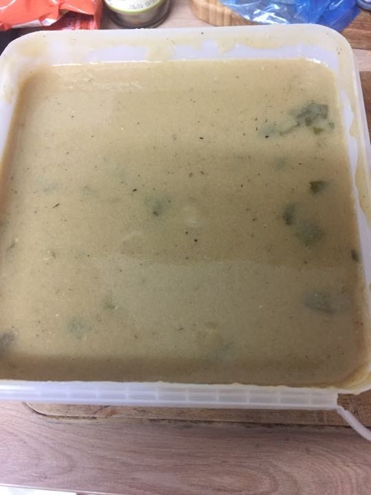 Roasted cauliflower and spinach soup