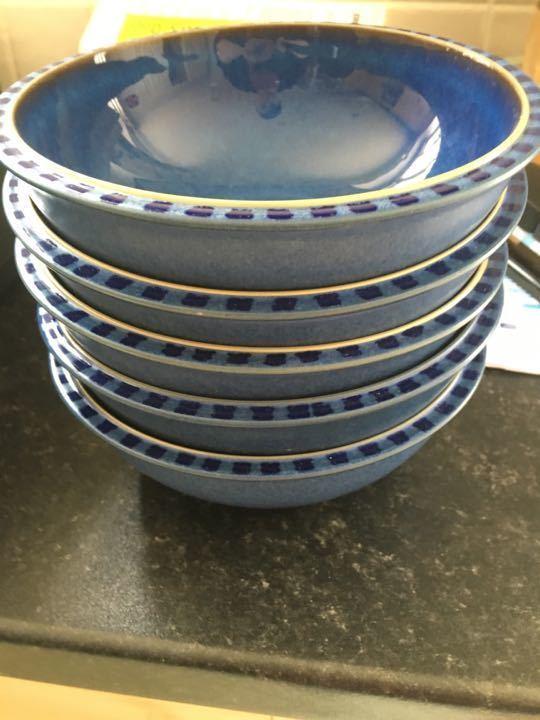 Set of 5 Denby bowls