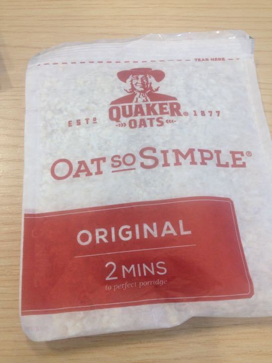 Quaker Oats so simple porridge sachets