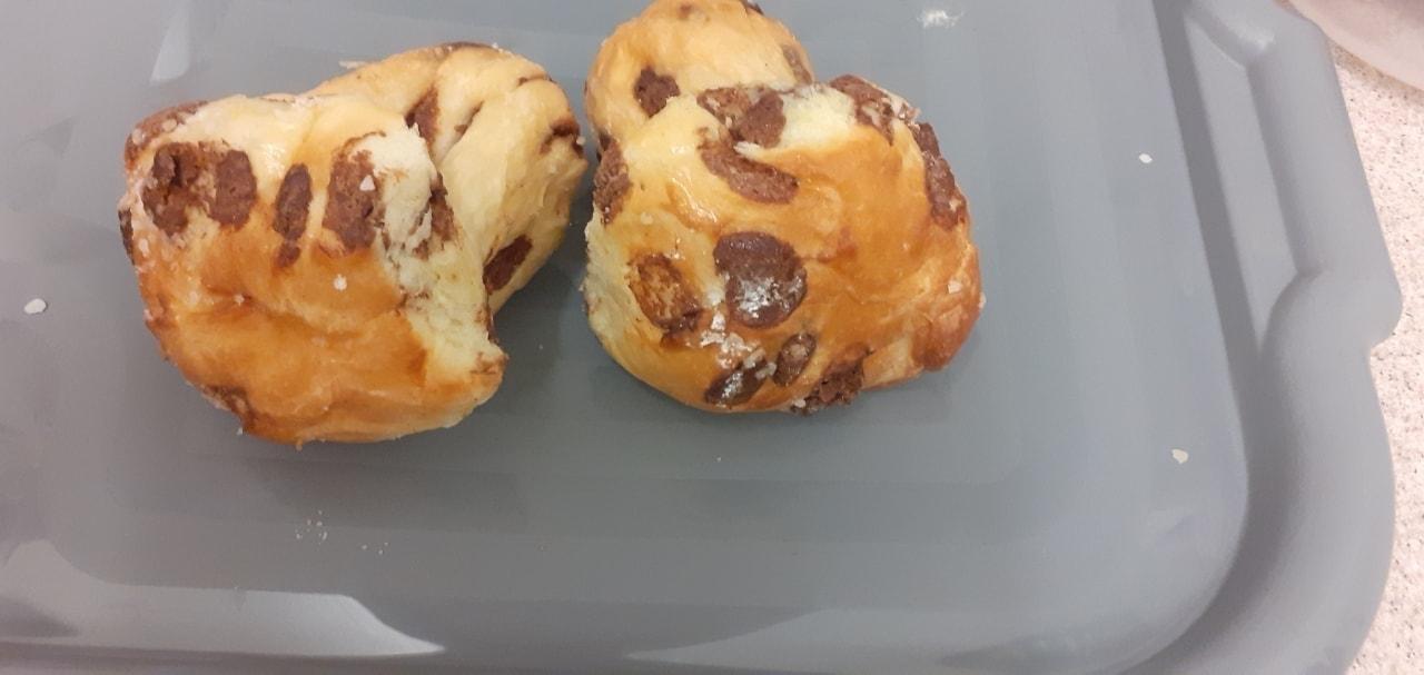 Chocolate brioche muffin