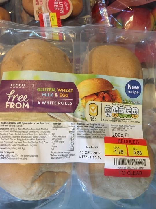 Tesco free from white rolls