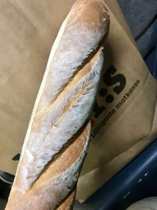 Fresh baguette from Pesso (14/03)