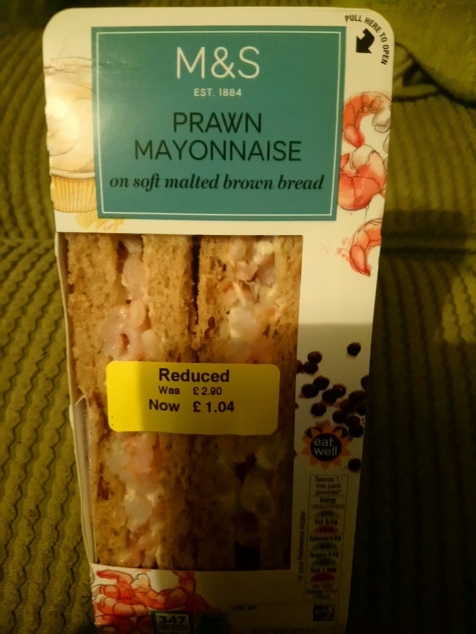 Prawn mayo sandwich