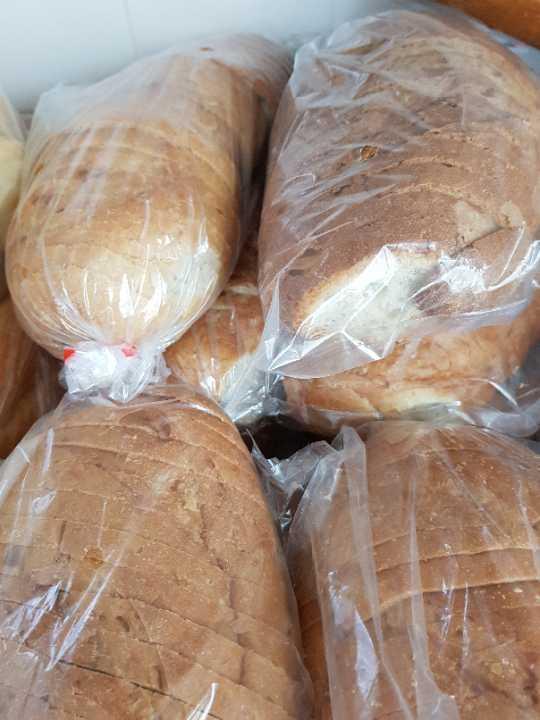 Sliced white bread x2