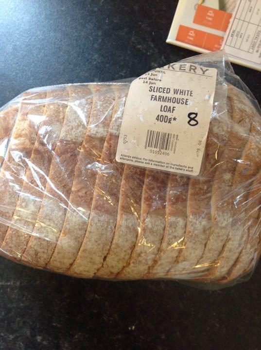 Sliced white bread 400g