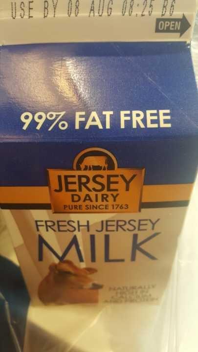Blue milk 99% free fat