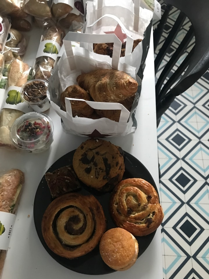 Variety of Pret pastries