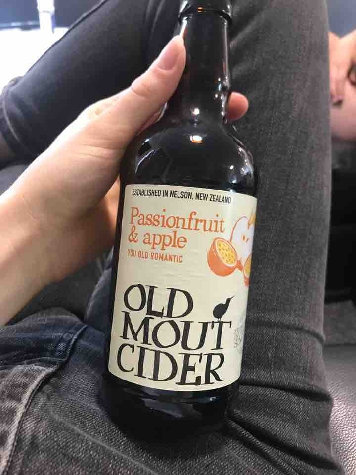 Passionfruit and apple old mout cider
