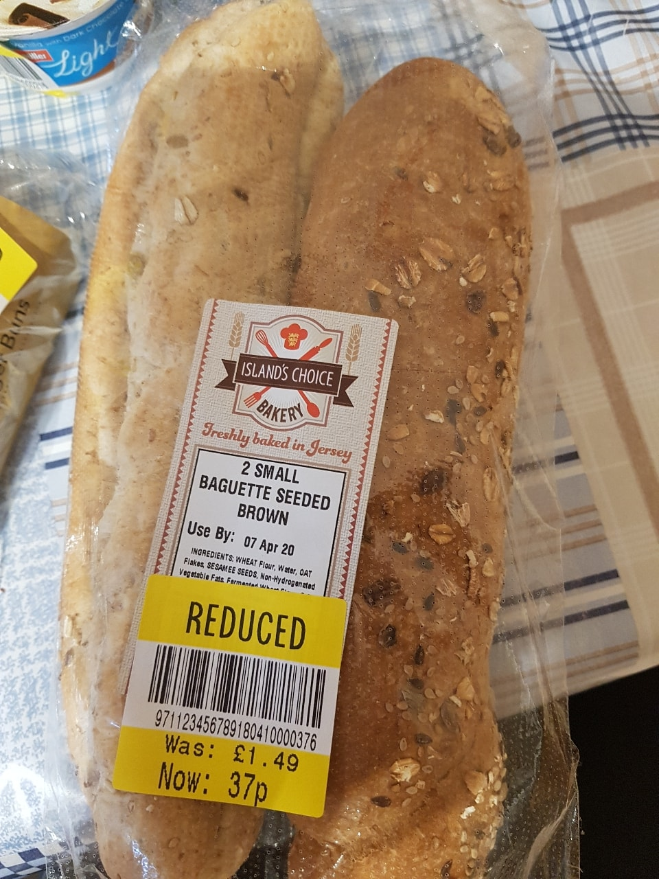 2 small baguette seeded brown