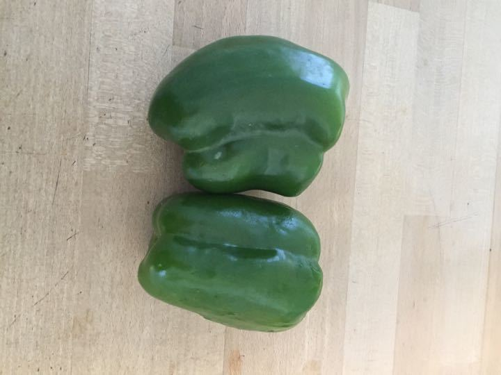 2 x green peppers