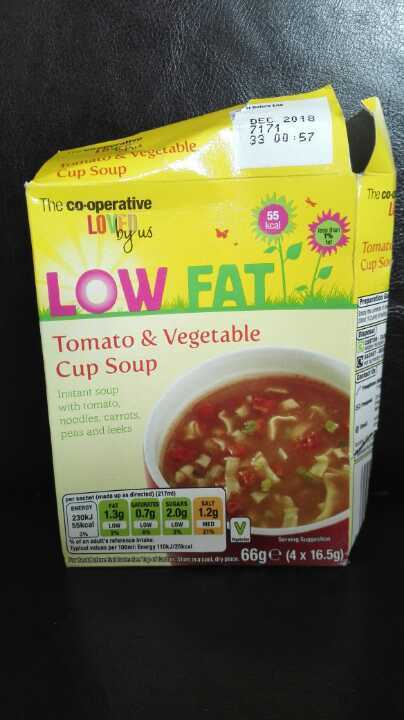 Tomato & vegetable cup soup