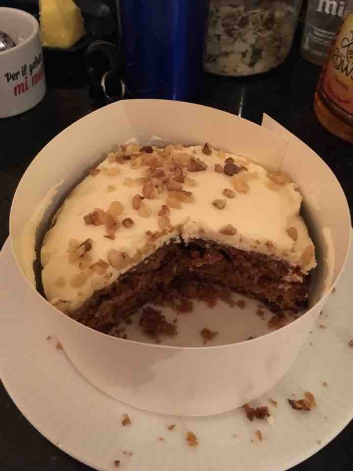 2/3 of a carrot cake!
