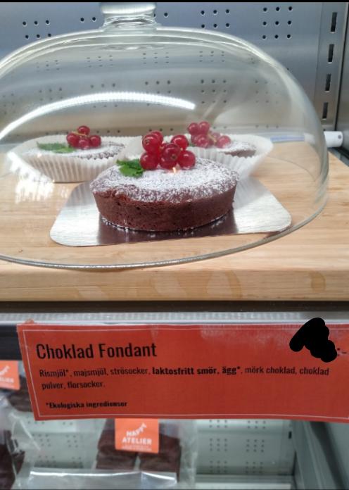 Gluten free, Chocolate fondant without fruitq